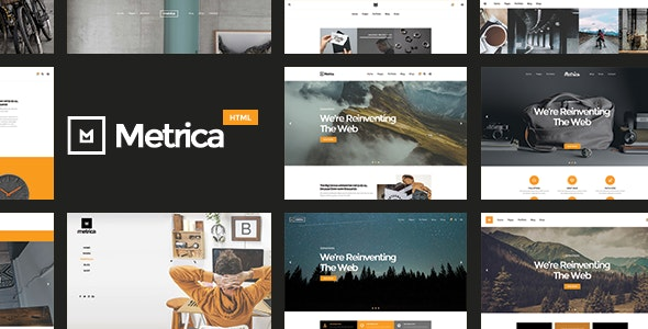 Metrica | Highly Flexible Component Based HTML5 Template - Portfolio Creative