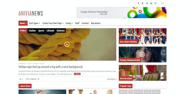Anivia - News, Magazine, Blog Wordpress Templates