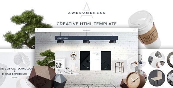 Awesomeness - Agency & Portfolio responsvie Template - Portfolio Creative