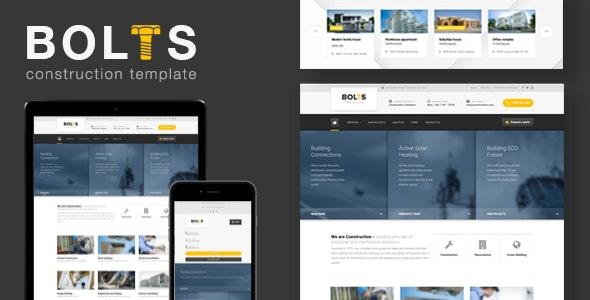 Bolts Construction - Building Business Template - Business Corporate