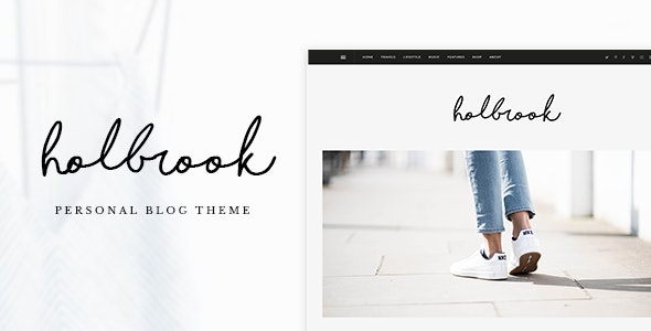 Holbrook - Personal Blog HTML Template - Personal Site Templates
