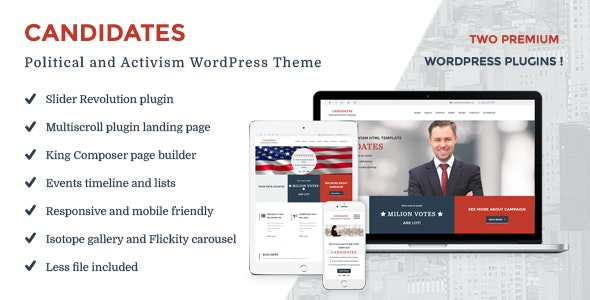 Candidates - Political and Activism WordPress Theme - Political Nonprofit