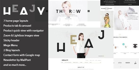 Heajy - Handmade Fashion WordPress Theme - WooCommerce eCommerce