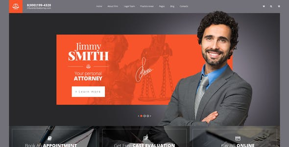 Attorneys - PSD template for law business