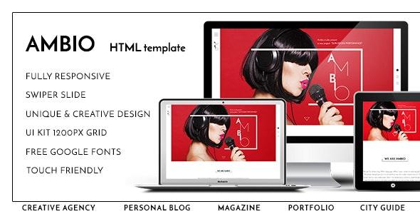 Ambio — Unique Personal Blog | Magazine Responsive HTML Template - Personal Site Templates