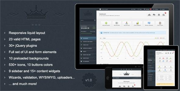 Crown - Premium Responsive Admin Theme - Admin Templates Site Templates