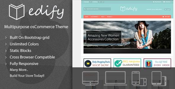 Edify - Responsive osCommerce Theme - osCommerce eCommerce
