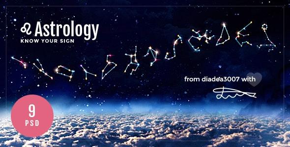 Astrology - Horoscope PSD Template - Creative Photoshop