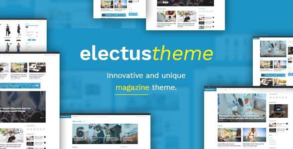 Electus - Clean Blog/Magazine WordPress Theme - News / Editorial Blog / Magazine