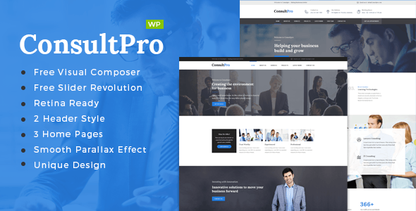 ConsultPro : Finance and Consultancy WordPress Theme - Business Corporate