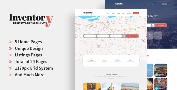 Inventory - Directory & Listing PSD Template - Business Corporate