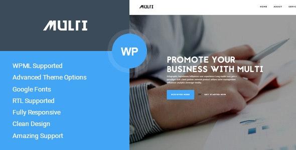 Multi - Business WordPress Theme - Business Corporate