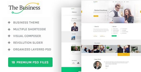 The Business - WP Business & Corporate Theme - Business Corporate