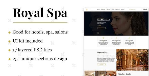 Royal Spa — Luxury Hotel & Spa PSD Template - Health & Beauty Retail