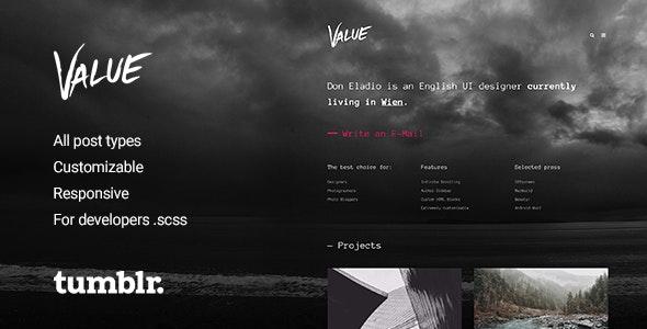 Value - Portfolio Theme for Tumblr - Blog Tumblr