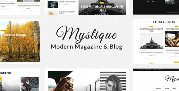 Mystique: Blog Magazine WordPress Theme