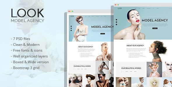 LOOK - Model Agency PSD Template - Fashion Retail