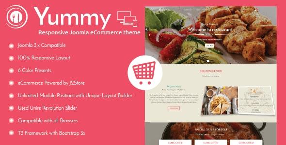 Yummy - Responsive Joomla Restaurant Template - Food Retail