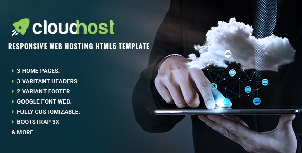 Cloud Host - Responsive Web Hosting HTML Template - Hosting Technology