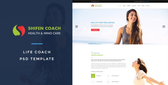 Shifen Coach : Life Coach PSD Template - Miscellaneous Photoshop