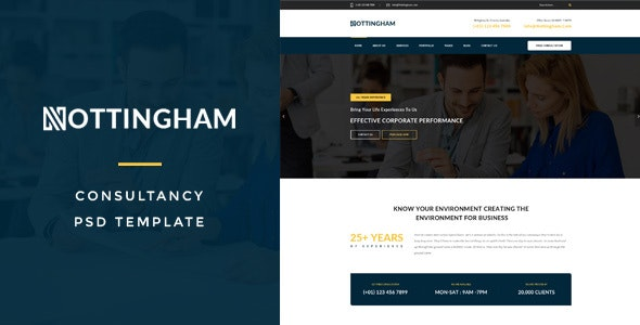 Nothingham : Consultancy PSD Template - Business Corporate