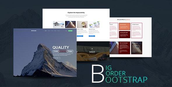 Creative One Page Portfolio Bootstrap Template  - BIG Border - Portfolio Creative