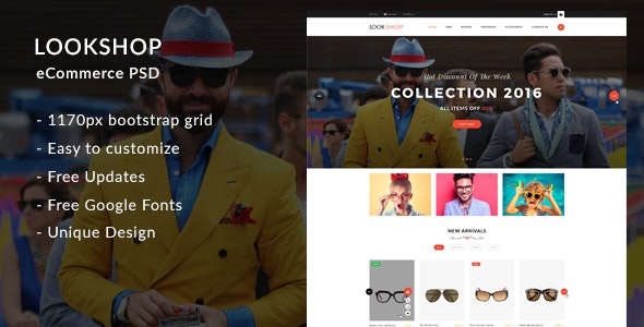 Lookshop – eCommerce PSD Template - Fashion Retail