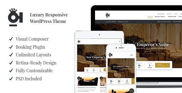 OI Hotel - Luxury Responsive WordPress Theme - Travel Retail