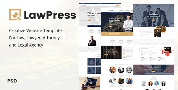LawPress - Creative Website Template For Law, Lawyer, Attorney and Legal Agency