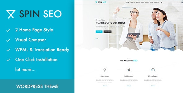 SPIN SEO - SEO & Business WordPress Theme! - Business Corporate