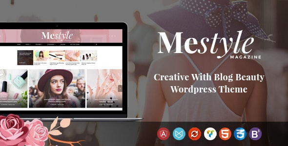 Mestyle  -  Beauty Blog Responsive WordPress Theme - Personal Blog / Magazine