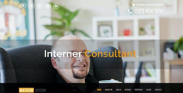 Accura Personal - Resume CV vCard Portfolio Theme