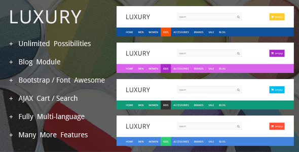 LuxuryShop - Prestashop Theme - PrestaShop eCommerce