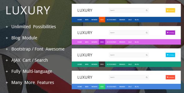 LuxuryShop - Prestashop Theme