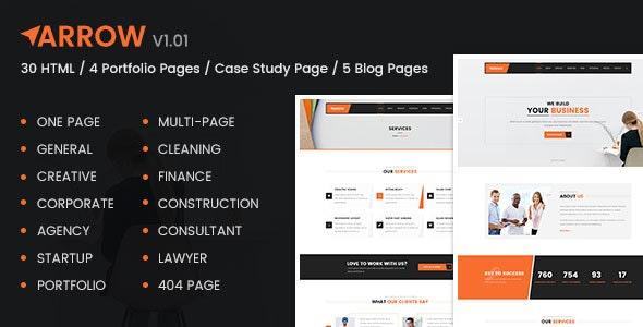 Arrow - Multipurpose Responsive HTML Template - Corporate Site Templates