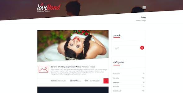 LoveBond - Wedding and Wedding Planner WordPress Theme - Responsive and Elegant