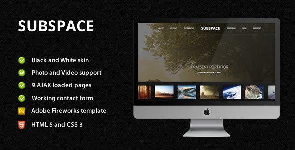 Subspace - Portfolio HTML5 Template - Portfolio Creative