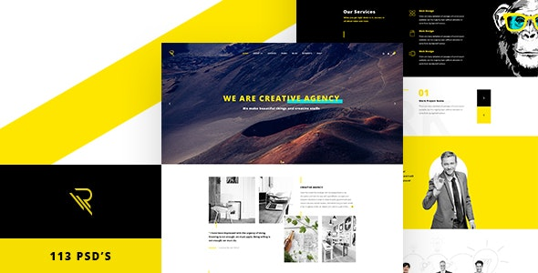 Reticulum - Creative Psd Template - Creative Photoshop