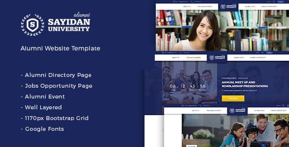 Sayidan - University Alumni HTML5 Template