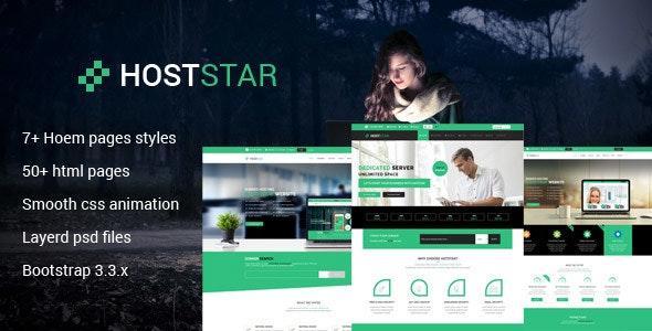 Hoststar  Responsive Web Hosting Website Template - Technology Site Templates