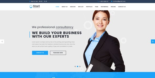 Single Page Consulting Website Templates From Themeforest