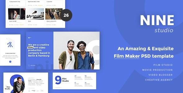 Nine Studio - An Amazing & Exquisite Film Maker PSD Template - Creative Photoshop