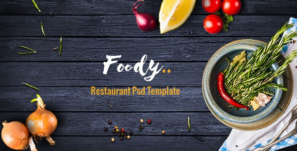 Foody - Luxury Restaurant PSD Template - Restaurants & Cafes Entertainment