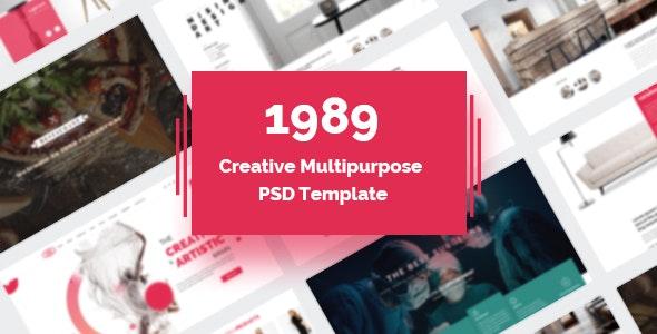 1989 - Modern Creative Multipurpose PSD Template - Business Corporate