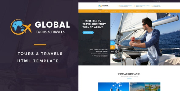 Global - Tours & Travels HTML Template - Travel Retail