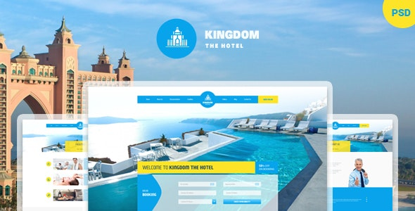 Kingdom - PSD Template for Hotels - Travel Retail