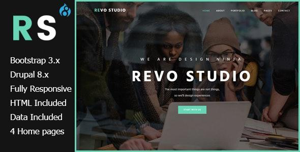 Revo Studio - Multipurpose Drupal 8.7 Theme - Portfolio Creative