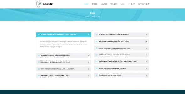 Medent - dental clinic PSD template