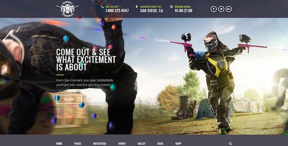 Paintball & Strikeball Club - Premium PSD template