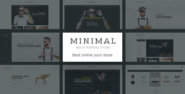 Minimal | Mutil-Concept eCommerce PSD Template - Retail Photoshop